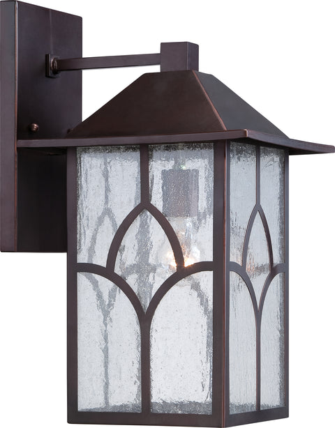 Nuvo Lighting 60/5643 Stanton 1 Light 10 Inch Outdoor Wall Mount Sconce Fixture with Clear Seed Glass
