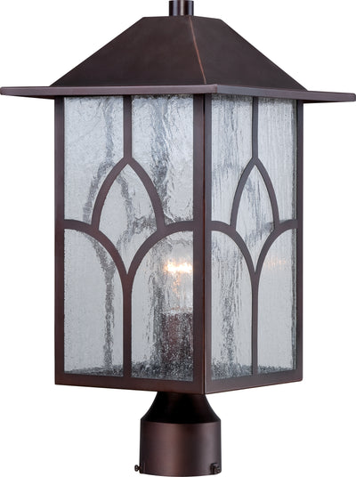 Nuvo Lighting 60/5645 Stanton 1 light Outdoor Post Fixture with Clear Seed Glass