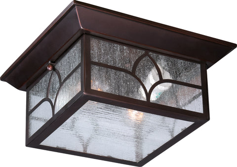 Nuvo Lighting 60/5646 Stanton 2 light Outdoor Flush Fixture with Clear Seed Glass