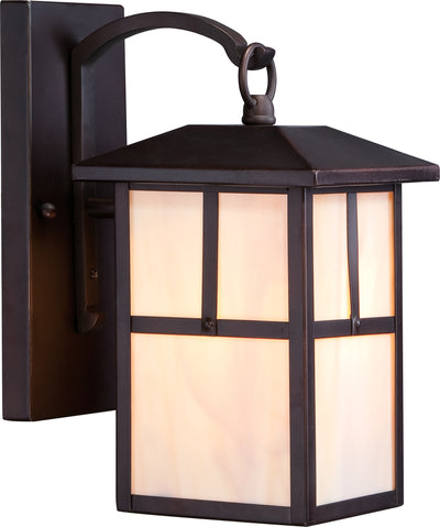 Nuvo Lighting 60/5671 Tanner 1 light 6 Inch Outdoor Wall Mount Sconce Fixture with Honey Stained Glass