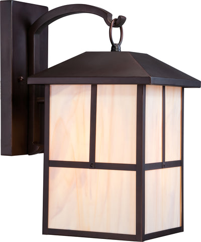 Nuvo Lighting 60/5673 Tanner 1 light 10 Inch Outdoor Wall Mount Sconce Fixture with Honey Stained Glass