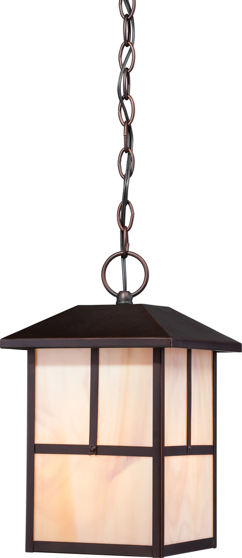 Nuvo Lighting 60/5674 Tanner 1 light Outdoor Hanging Fixture with Honey Stained Glass