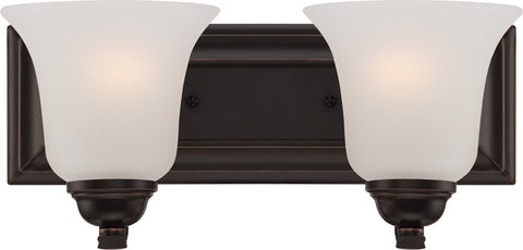 Nuvo Lighting 60/5692 Elizabeth 2 Light Vanity Fixture with Frosted Glass