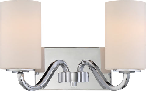 Nuvo Lighting 60/5802 Willow 2 Light Vanity Fixture with White Glass