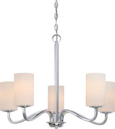 Nuvo Lighting 60/5805 Willow 5 Light Hanging Fixture with White Glass