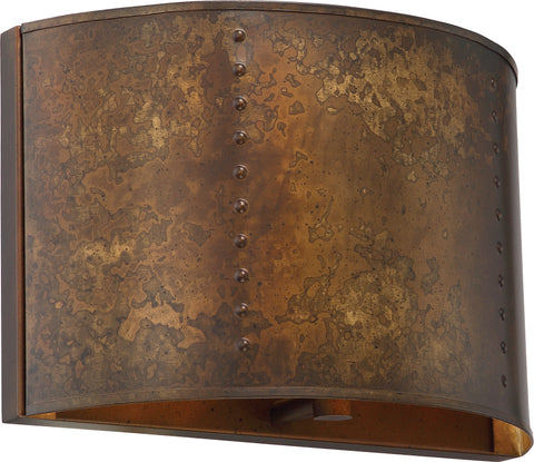 Nuvo Lighting 60/5891 Kettle 1 Light Wall Mount Sconce Sconce with 60W Vintage Lamp Included Weathered Brass Finish