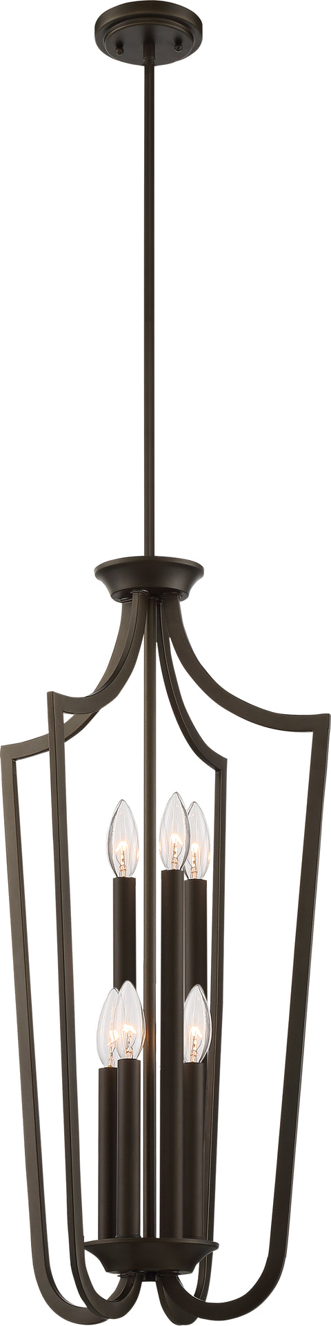 Nuvo Lighting 60/5977 Laguna 6 Light Caged Pendant Forest Bronze