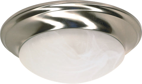 Nuvo Lighting 60/6009 1 Light 12 Inch Flush Mount Twist and Lock with Alabaster Glass Color retail packaging