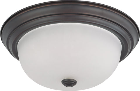 Nuvo Lighting 60/6011 2 Light 13 Inch Flush Mount with Frosted White Glass Color retail packaging