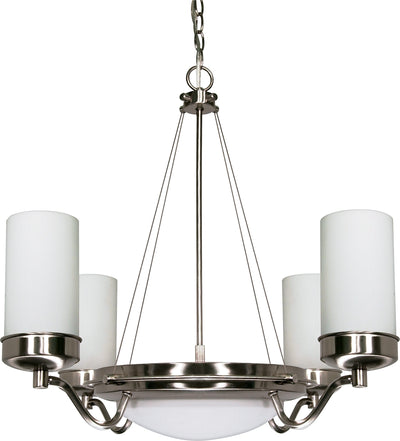 Nuvo Lighting 60/607 Polaris 6 Light 29 Inch Chandelier with Satin Frosted Glass Shades