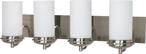 Nuvo Lighting 60/614 Polaris 4 Light 30 Inch Vanity with Satin Frosted Glass Shades