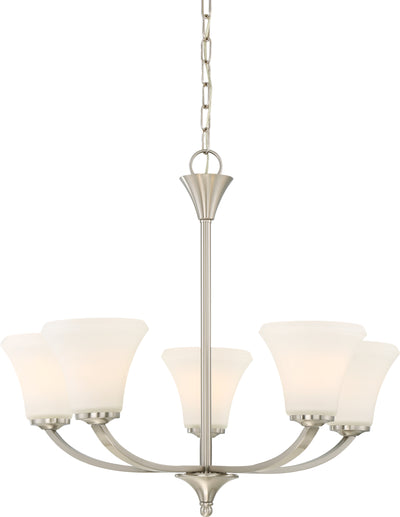 Nuvo Lighting 60/6205 Fawn 5 Light Chandelier Fixture Brushed Nickel Finish
