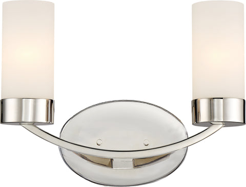 Nuvo Lighting 60/6222 Denver 2 Light Vanity Fixture Polished Nickel Finish