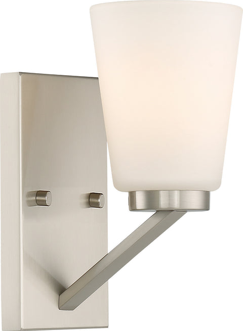 Nuvo Lighting 60/6241 Nome 1 Light Vanity Fixture Brushed Nickel Finish