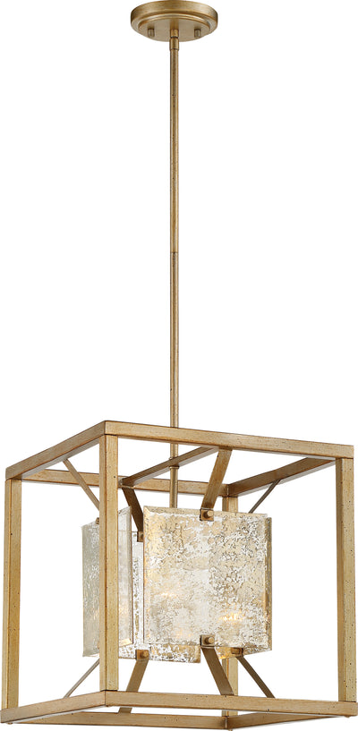 Nuvo Lighting 60/6271 Stanza 1 Light Med Pendant Fixture Antique Gold Finish
