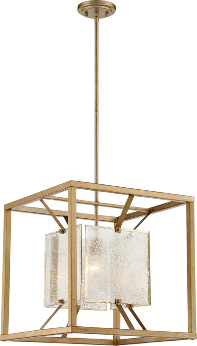 Nuvo Lighting 60/6272 Stanza 1 Light Large Pendant Fixture Antique Gold Finish