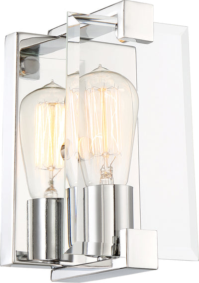 Nuvo Lighting 60/6291 Shelby 1 Light Sconce Fixture Polished Nickel Finish