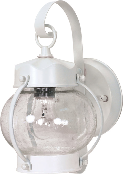 Nuvo Lighting 60/630 1 Light 11 Inch Wall Mount Sconce Lantern Onion Lantern with Clear Seed Glass