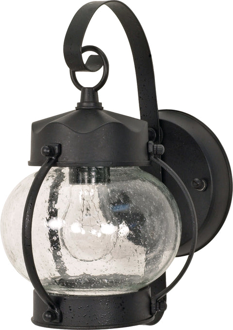 Nuvo Lighting 60/632 1 Light 11 Inch Wall Mount Sconce Lantern Onion Lantern with Clear Seed Glass