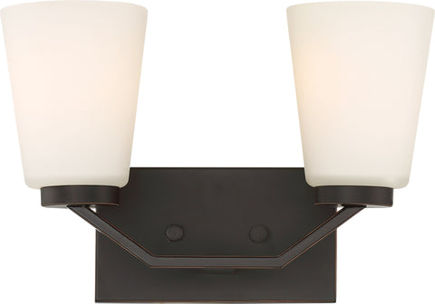 Nuvo Lighting 60/6342 Nome 2 Light Vanity Fixture Mahogany Bronze Finish