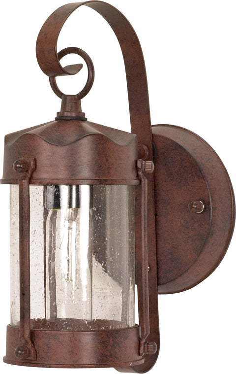 Nuvo Lighting 60/634 1 Light 11 Inch Wall Mount Sconce Lantern Piper Lantern with Clear Seed Glass