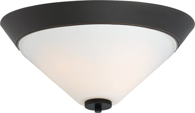 Nuvo Lighting 60/6352 Nome 2 Light Flush Mount Fixture Mahogany Bronze Finish