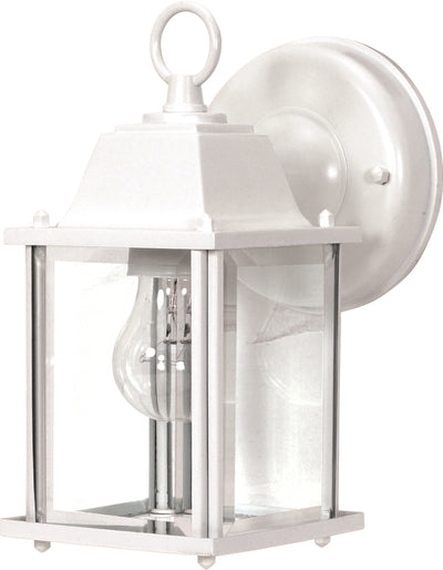 Nuvo Lighting 60/636 1 Light 9 Inch Wall Mount Sconce Lantern Cube Lantern with Clear Beveled Glass