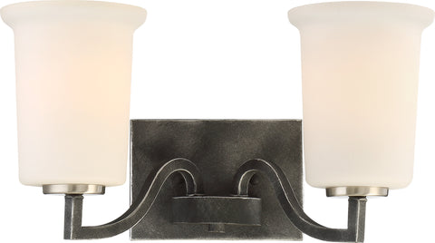 Nuvo Lighting 60/6372 Chester 2 Light Vanity Fixture Iron Black Finish