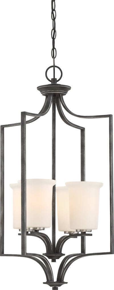 Nuvo Lighting 60/6376 Chester 4 Light Foyer Fixture Iron Black Finish