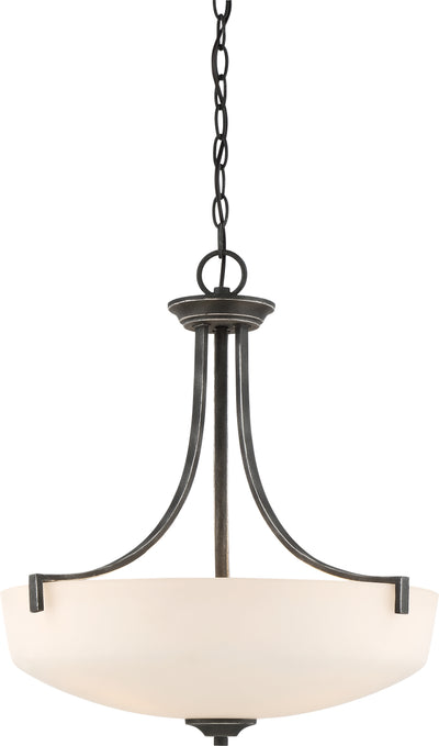 Nuvo Lighting 60/6378 Chester 3 Light Pendant Fixture Iron Black Finish