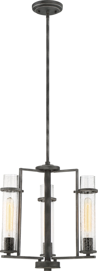 Nuvo Lighting 60/6383 Donzi 3 Light Chandelier Fixture Iron Black Finish