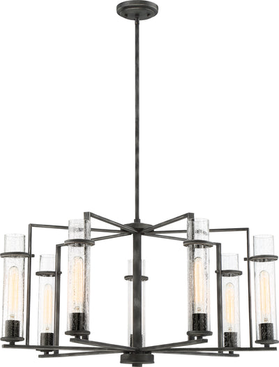 Nuvo Lighting 60/6387 Donzi 7 Light Chandelier Fixture Iron Black Finish