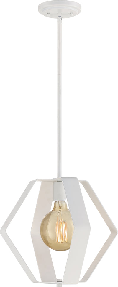 Nuvo Lighting 60/6396 Zen 1 Light 14 Inch Pendant White Finish