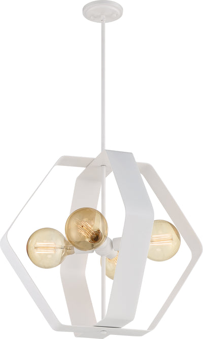 Nuvo Lighting 60/6397 Zen 4 Light 24 Inch Pendant White Finish