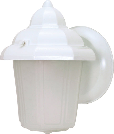 Nuvo Lighting 60/639 1 Light 9 Inch Wall Mount Sconce Lantern Hood Lantern with Satin Frosted Glass