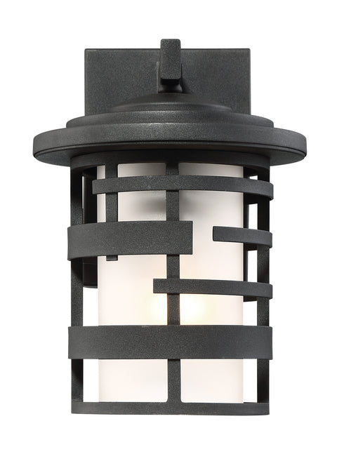 Nuvo Lighting 60/6401 Lansing 1 Light 10 Inch Outdoor Wall Mount Sconce Lantern with Etched Glass