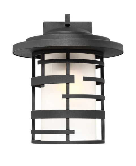 Nuvo Lighting 60/6403 Lansing 1 Light 14 Inch Outdoor Wall Mount Sconce Lantern with Etched Glass