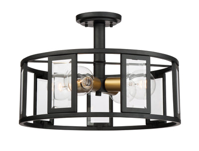 Nuvo Lighting 60/6413 Payne 4 Light Semi Flush with Clear Beveled Glass