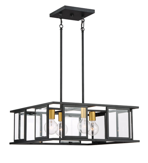 Nuvo Lighting 60/6414 Payne 4 Light Pendant with Clear Beveled Glass