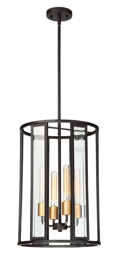 Nuvo Lighting 60/6415 Payne 4 Light Foyer Pendant with Clear Beveled Glass