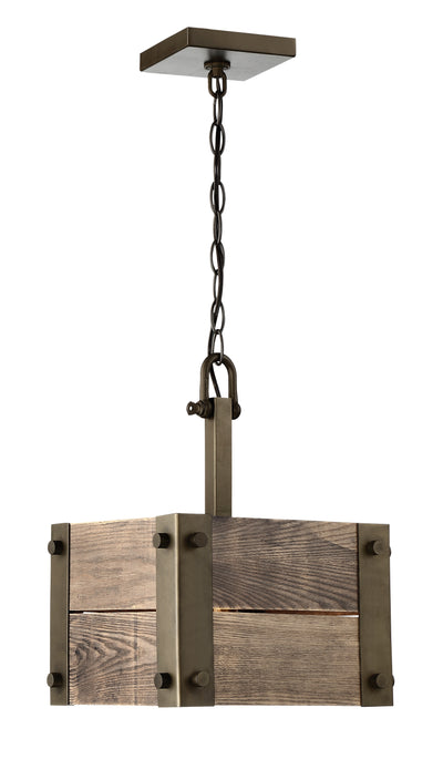 Nuvo Lighting 60/6421 Winchester 1 Light Mini Pendant with Aged Wood