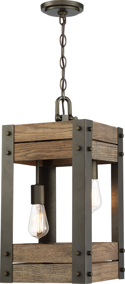 Nuvo Lighting 60/6425 Winchester 2 Light Pendant Bronze/Aged Wood Finish