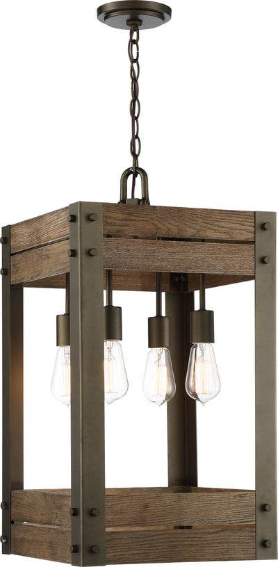 Nuvo Lighting 60/6426 Winchester 5 Light Pendant Bronze/Aged Wood Finish