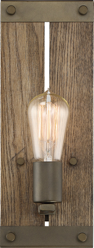 Nuvo Lighting 60/6427 Winchester 1 Light Wall Mount Sconce Sconce Bronze/Aged Wood Finish