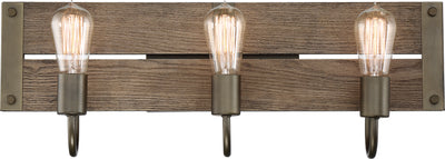 Nuvo Lighting 60/6429 Winchester 3 Light Vanity Bronze/Aged Wood Finish