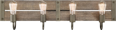 Nuvo Lighting 60/6430 Winchester 4 Light Vanity Bronze/Aged Wood Finish