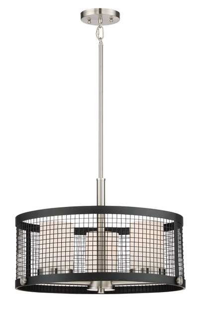 Nuvo Lighting 60/6453 Pratt 3 Light Pendant with White Glass