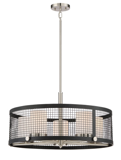 Nuvo Lighting 60/6454 Pratt 5 Light Pendant with White Glass