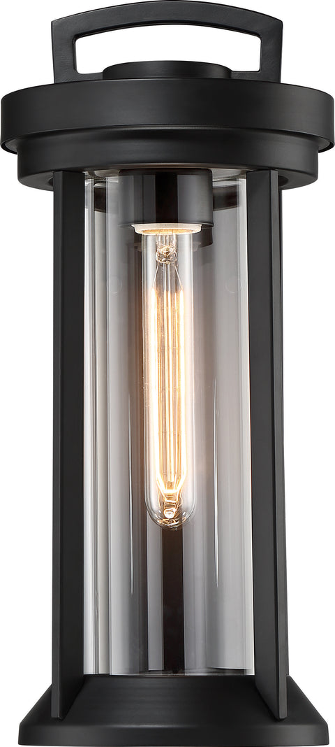 Nuvo Lighting 60/6502 Huron 1 Light Small Lantern Aged Bronze Finish with Clear Glass