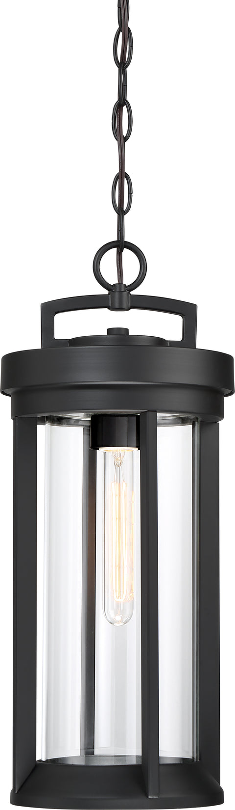 Nuvo Lighting 60/6504 Huron 1 Light Hanging Lantern Aged Bronze Finish with Clear Glass